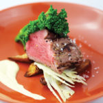 Beef fillet with fennel and cauliflower puree