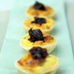 Thyme and Parmesan tartlets with red onion jam
