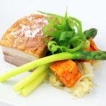 Crispy pork belly with sauerkraut